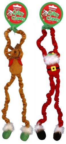 Crazy Claws Door Hangers Cat Toys Reindeer and Santa, 2-Pack