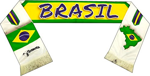 Perfect Hat Trick Official Brazil Flag Scarf - Verde-Amarela