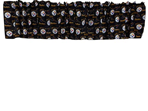 Zen Creative Designs 100% Cotton NFL Sports Team Pittsburgh Steelers Flags Print Window Valance 58