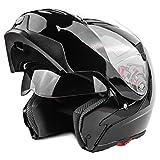 Typhoon Modular Motorcycle Helmet DOT Dual Visor Full Face Flip-up - Black XL