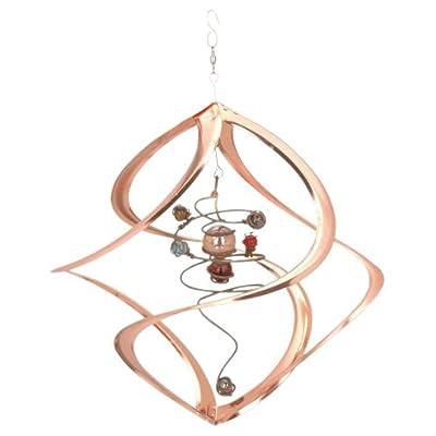 Red Carpet Studios Cosmix Copper Spiral Planet Wind Sculpture (31054): Red Carpet: Garden & Outdoor