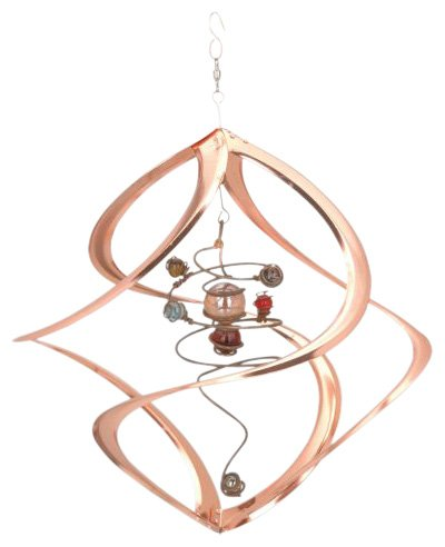 Spiral Wind Sculpture - Red Carpet Studios Cosmix Copper Spiral Planet Wind Sculpture (31054)
