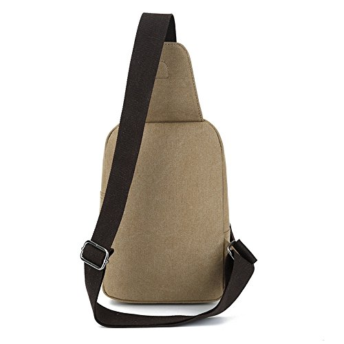 Men's Canvas Chest Bag Canvas Chest Men's Bag Coffee Coffee 4xwdXAY
