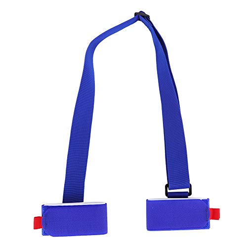 Dilwe Ski Strap, Adjustable Ski Pole Carrier Shoulder Sling with Cushioned for Snowboard Skateboard Yoga Mat Winter Outdoor Sports Accessory