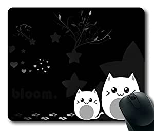 Black White Kitties Easter Thanksgiving Personlized Masterpiece Limited Design Oblong Mouse Pad by Cases & Mousepads