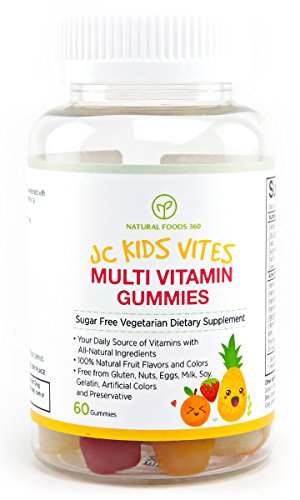 JC Kids Vites (Veggie Sugar Free Multivitamin Gummies), Chewable Vitamins Made with Fruit and Vegetable, Best Multivitamin for Kids, Your Daily Natural Vitamin (Kid Vite Chewable Multivitamin)
