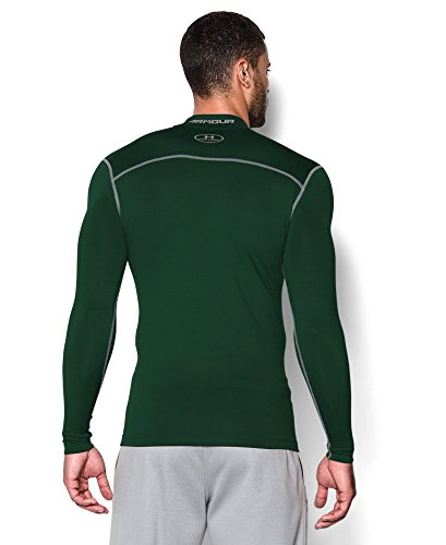 Under Armour Men's ColdGear Armour Compression Mock Long Sleeve Shirt, Forest Green /Steel, XXX-Large by Under Armour (Image #1)