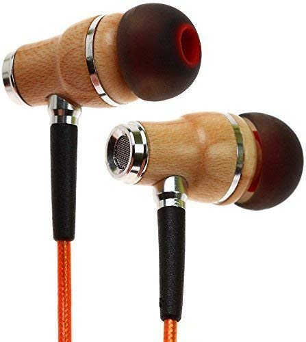 Symphonized NRG 2.0 Earbuds with Microphone, Noise Isolating Headphones Earbuds Heavy Deep Bass Earphones Ear Buds, in Ear Headphones for iPhone Android Phone iPad Tablet Laptop and More (Orange)