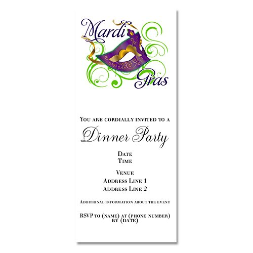 CafePress - Mardi Gras Design 5 - Invitations Matte (Wedding Mardi Invitations Gras)