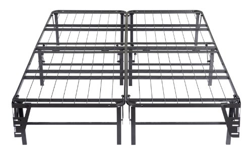 Kings Brand Metal Bi-Fold Platform Bed Frame Base Mattress F