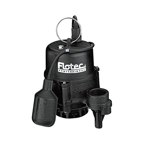 Flotec Cast Iron Effluent Pump - 1 1/2in. Discharge, 4020 GPH, 1/2in. Solids Capacity, 1/2 HP, Model# (Flotec 1/2 Hp Cast Iron)