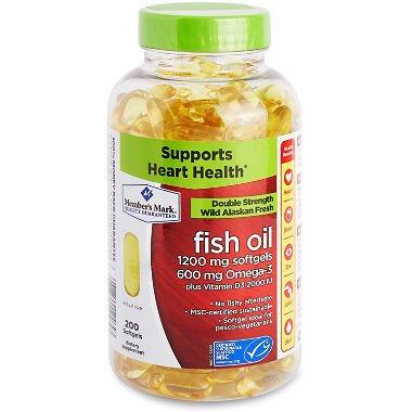 Member's Mark 1200mg Double Strength Wild Alaskan Fresh Fish Oil 200 ct. A1