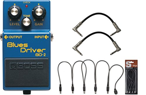 BOSS BD-2 Blues Driver Pedal w/ Daisy Chain Cable and (2) 6