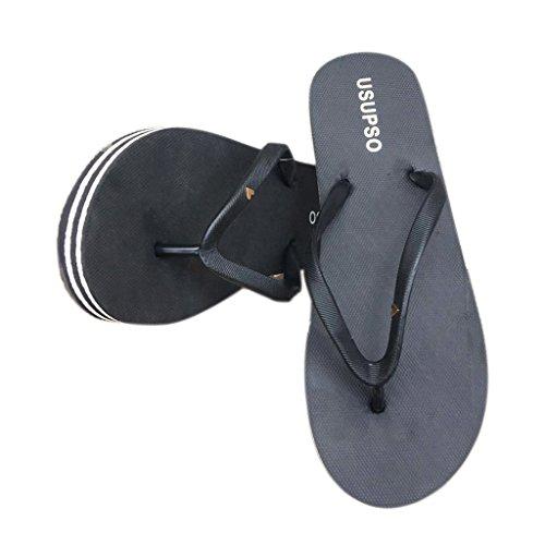 Femme Tongs Chaussures 37 Candy Femmes de Mode Chaussons Couleur Noir Noir Sandales Plage JAGENIE Ut4q5v7