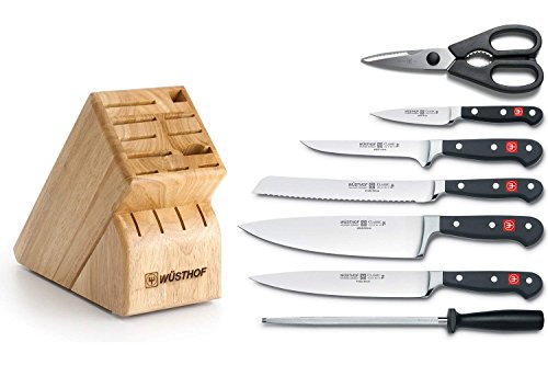 Cheap Wusthof Classic 8-Piece Deluxe Knife Set with Block