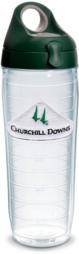 Tervis 1320933 Kentucky Derby 2019 Churchill Downs Insulated Travel Tumbler with Emblem and Hunter Green with Gray Lid 24oz Water Bottle Tritan Clear