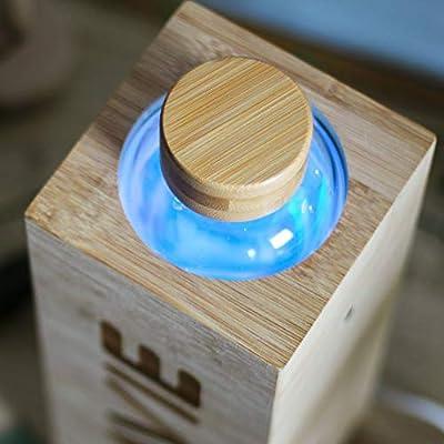 Purificador de Agua en Bamb/ú con luz UVA que funciona Sin Consumibles LaVie Premium Capacidad 1L Transforme su Agua del Grifo en Agua Pura y Deliciosa en 15 minutos