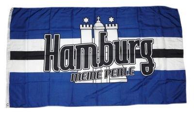 Fahne / Flagge Meine Perle Hamburg NEU 90 x 150 cm