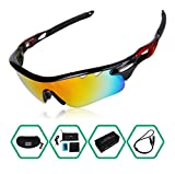 GARDOM Polarized Sports Sunglasses Lightweight Unbreakable UV-Resistant Sunglasses with 5 Interchangeable Lenses for Climbing Cycling Fishing Driving Hiking