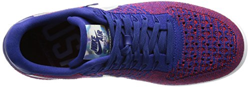 Nike Men's Af1 Ultra Flyknit Low PRM Basketball Shoes Rojo (Gym Red / Deep Royal Blue-white) UHihS6N1C