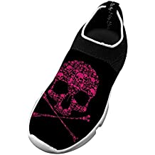 Jane-LEE Fly knit Leisure Shoes Skull Ultra Lightweight For Youngster Boy Girl