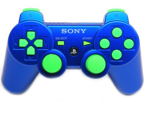 Ps3 Blue/green Rapid Fire Modded Controller 30 Mode for C...