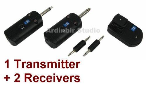 Wireless Radio Remote Flash Trigger 1 Transmitter + 2 Receiver for Alien bees, Balcar, White Lightning, Elinchrom, Bowens, Photogenic, Hensel, Broncolor, Norman Studio Strobe Flash Light