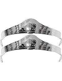 Pair Metal Heel Caps/Guards Western Filigree O/S Silver