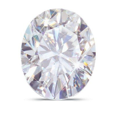 Moissanite Oval 8.0 x 6.0 mm 1.50 carats 69 facets by Charles & Colvard