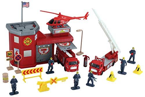 MotorMax Fire Station 20 Piece Playset