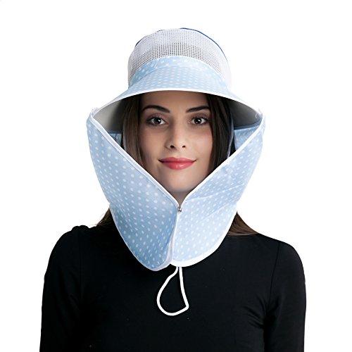 A Sund Wide Brim Sun Visors Hat for Women UV Protection Farm Garden Work Field Working Flap Cap Summer