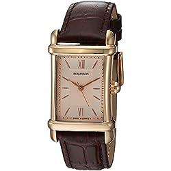 Romanson Men's TL0338MM1RAC6R Romanson Analog Display Analog Quartz Brown Watch