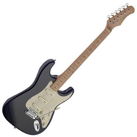 Stagg SES50M-BK de la serie Vintage guitarra eléctrica Negro: Amazon.es: Instrumentos musicales