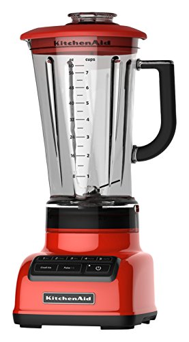 KitchenAid KSB1575HT 5-Speed Diamond Blender with BPA-Free Pitcher, 60 oz, Hot Sauce ()