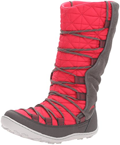 Columbia Kids' Youth Loveland Omni-Heat-K Snow Boot, Punch Pink/Quarry, 2 M US Little Kid