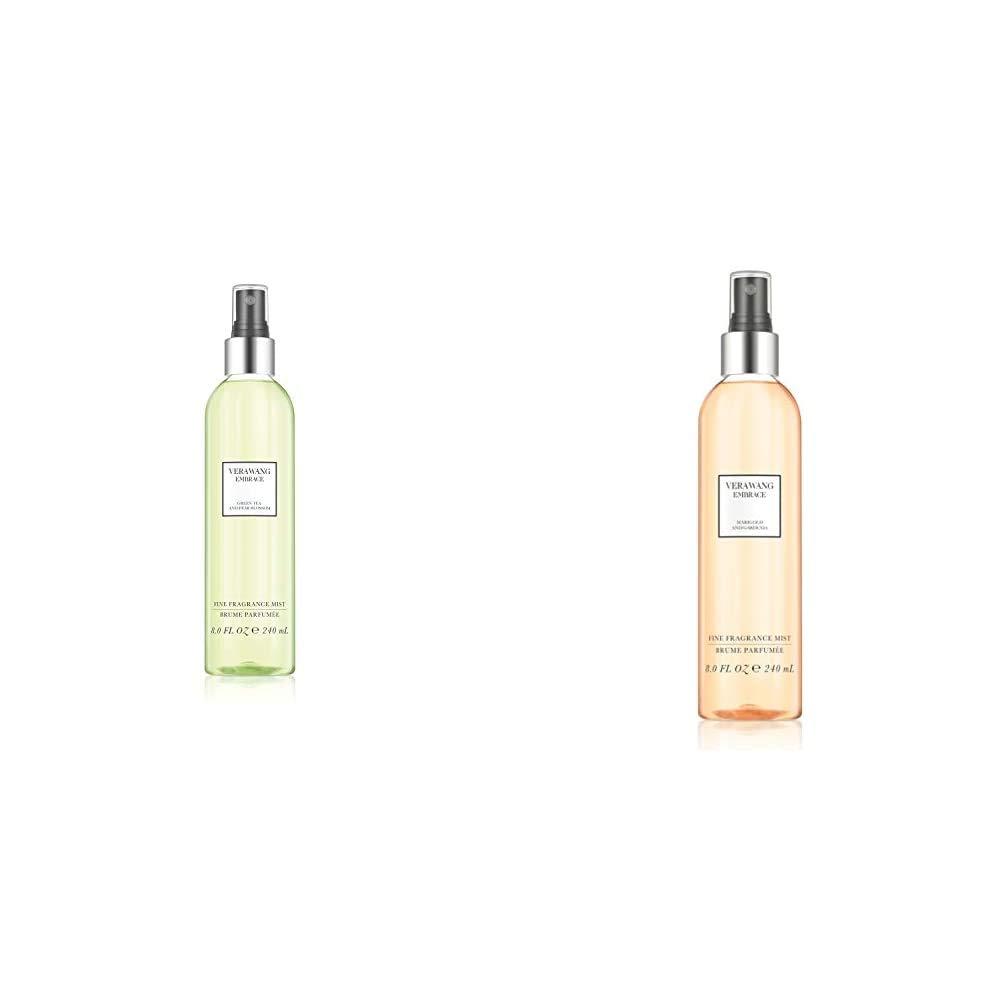 Vera Wang Embrace Body Mist Spray for Women, Green Tea & Pear Blossom, 8 Fluid Oz with Marigold and Gardenia Scent, 8 Ounce Body Mist Spray Dreamy Fl