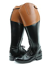Hispar ROYAL Women Ladies Field Fox Hunt Hunting Boots With Back Zipper Tan Top