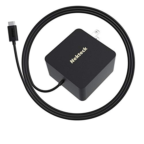 Nekteck 45W USB C Wall Charger with Power Delivery, Laptop Fast Charging Adapter Built-in 6ft Type C Cable for MacBook, Dell XPS, Surface Go, Pixel, Galaxy, Nintendo(NOT Ideal for Note10/S10/10+PPS)
