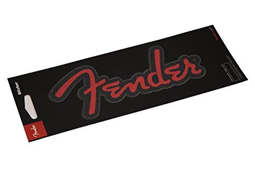 Fender Guitars Sticker - Red Glitter ()