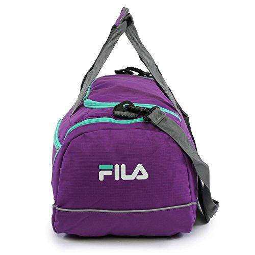 "41xH5m0WYeL - Fila Sprinter 19"" Sport Duffel Bag, Purple/Teal - FL-SD-2719-PLTL"