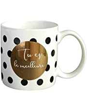 Draeger - Mug Original - Tasse À Thé à offrir en cadeau à vos proches - Tasse À Café en porcelaine fine - 350 ml 8 cm de diamètre x 8,5 cm de hauteur tu es la meilleure