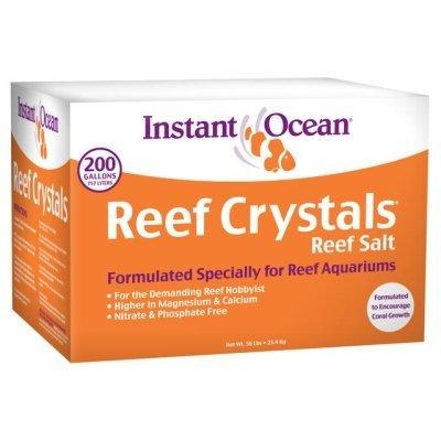- Instant Ocean-Aquarium Systems 200 Gallon Reef Crystals Sea Salt (box)