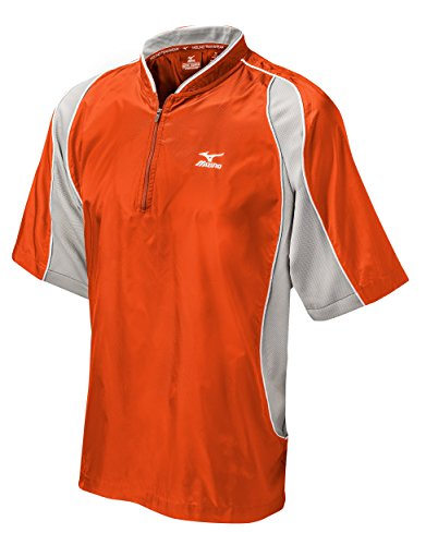 Mizuno Protect Batting Jersey, Orange, ()