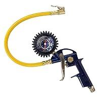 """Inflador de neumáticos, pistola de inflado 3 en 1, con pistola, mandril de bloqueo y calibre de 2 pulgadas, ¼ """"NPT y manguera flexible (Campbell Hausfeld MP600000AV)"""