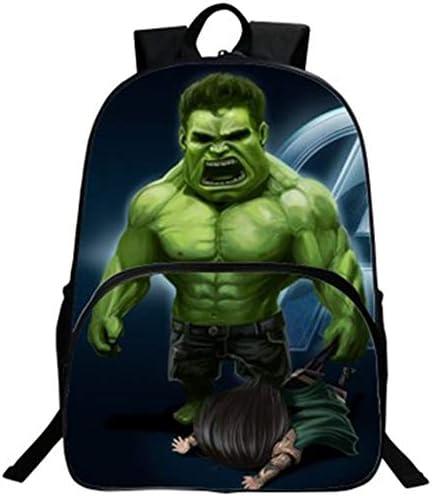 Hulk Rucksack Student Bag Avengers Cartoon Kinderrucksack