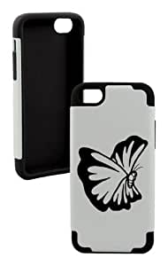 meilinF000Beautiful Butterfly Plastic & Silicone Black Case for ipod touch 5- LIFETIME WARRANTYmeilinF000