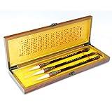 QTT Writing Brush, Wooden Gift Box Brush Set,Traditional Chinese Brush, Calligraphy and Painting Supplies