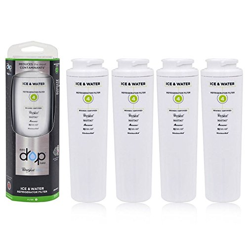 4PACK-EveryDrop EDR4RXD1 Whirlpool Refrigerator Water Filter 4 UKF8001 4396395 by new