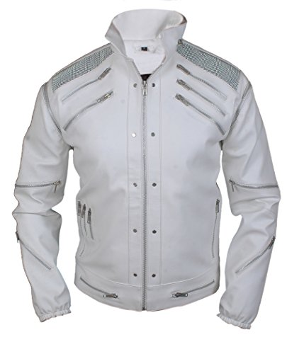 F&H Boy's Michael Jackson Beat It Jacket XXS White -