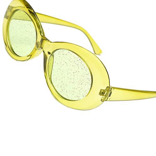 Sequin De Frame Femmes Objectifs Shades Masterein Ovales 9 Transparent Lunettes Uv400 Bonbons Glitter Soleil Couleur OSBcwqf